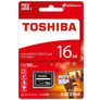 Karta microSD 16 GB, klasa 10, z adapterem SD, Toshiba Exceria M302