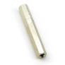Dystans 35 mm, W/W, M3, mosiężny niklowany