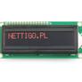 Wyświetlacz LCD 2x16 rubinowy 1602A