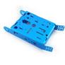Podwozie aluminiowe do budowy robota - niebieskie