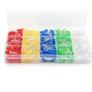 Zestaw 500 szt diod LED 5mm: czerwone, żółte, niebieskie, zielone i białe