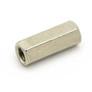 Dystans 12 mm, W/W, M3, mosiężny niklowany