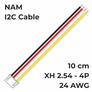 Kabel NAM I2C XH2.54-4P 10cm 24AWG